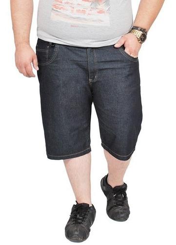 Imagem 1 de 4 de Bermuda Masculina Jeans Com Lycra Plus Size Tamanho Grande D
