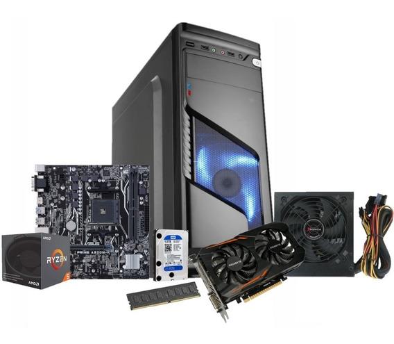 Pc Gamer Amd Ryzen 5 2400g Ddr4 16gb Gtx 1050 Oc 2gb