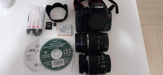 Câmera Canon T2i + 2 Lentes - Toda Original