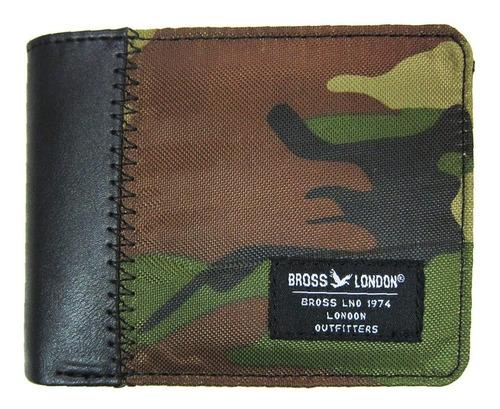 Billetera Bross Brs-6026 Hombre Pu+textil Envio Gratis