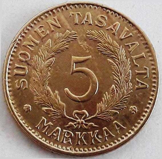 Finlandia - Moneda De 5 Markkaa Del Año 1946 - Excelente-