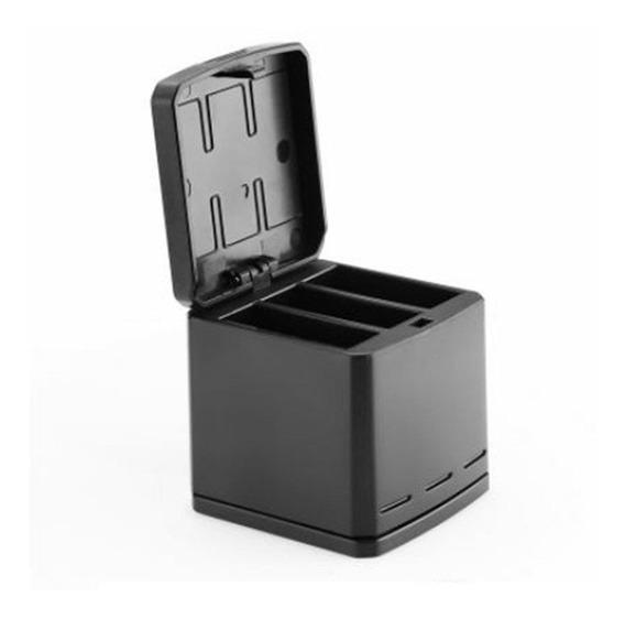 Carregador Telesin Triplo Storage Box Caixa Para Gopro 5, 6, 7