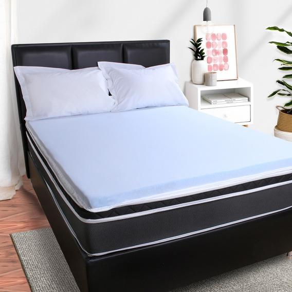 Pillow Top Queen Espuma 6cm Viscoelástico Gel Sense Da Nasa