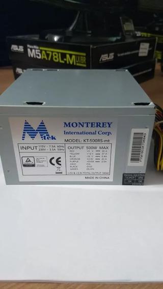 Fonte Monterey 500w Mtek Kt-500rs-mt