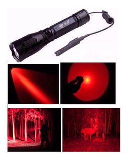 Lanterna Led Vermelho Caça Acionamento Remoto 1 Modo Luz