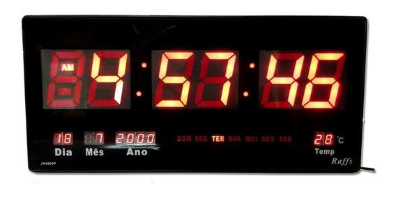 Relógio Parede Led Digital Gigante 46cm Data Temperatura - G