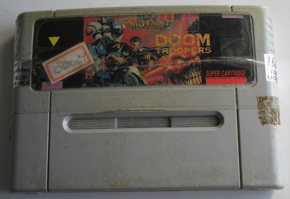 Doom Troopers Super Nintendo Paralela Usada