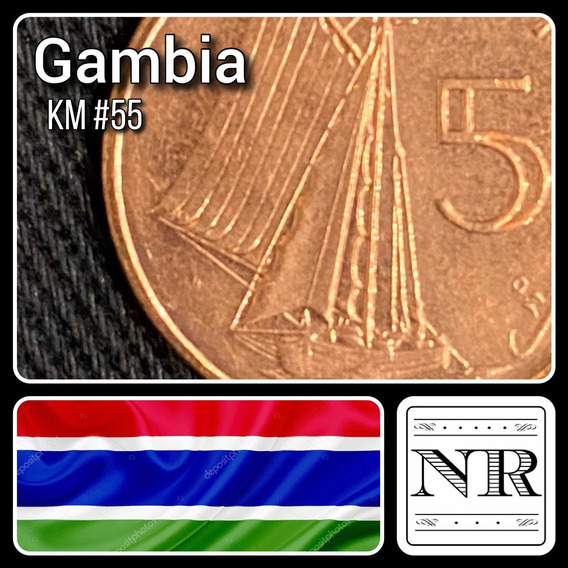 Gambia - 5 Bututs - Año 1998 - Km #55 - Africa - Velero