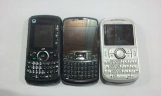 Kit 3 Celulares Motorola E Sansung P Reaproveitamento N63-10
