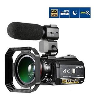 Ordro Camara De Video Wifi Digital 4k Con Pantalla Tactil Ip