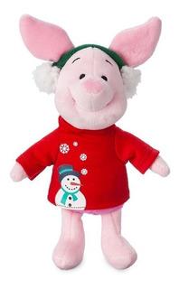 Disney Store Peluche Piglet Navideño Pooh 100% Original