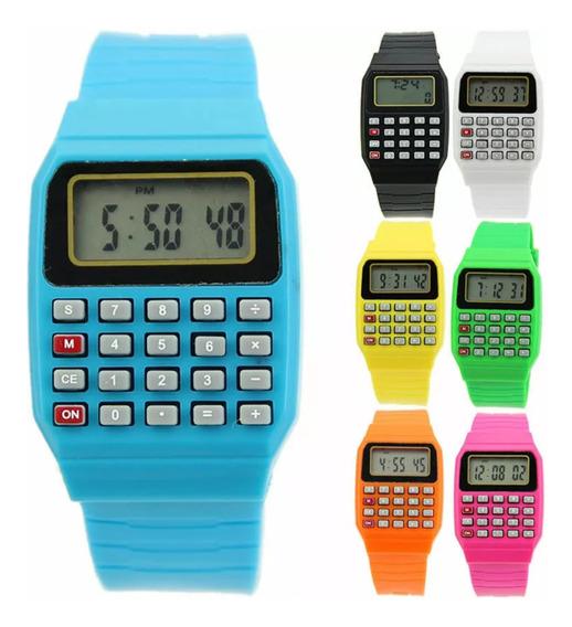 Relógio Digital Com Calculadora Kit 5 Pçs