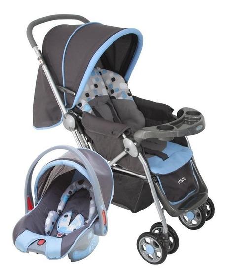 Carrinho Travel System Cosco (carrinho + Bebê Conforto) Azul