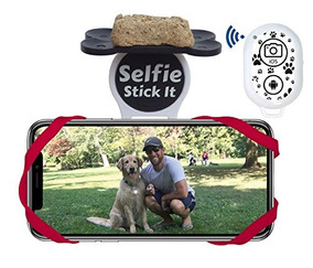 Dog Selfie Stick It With Pet & Pooch Treat Holder Attachment