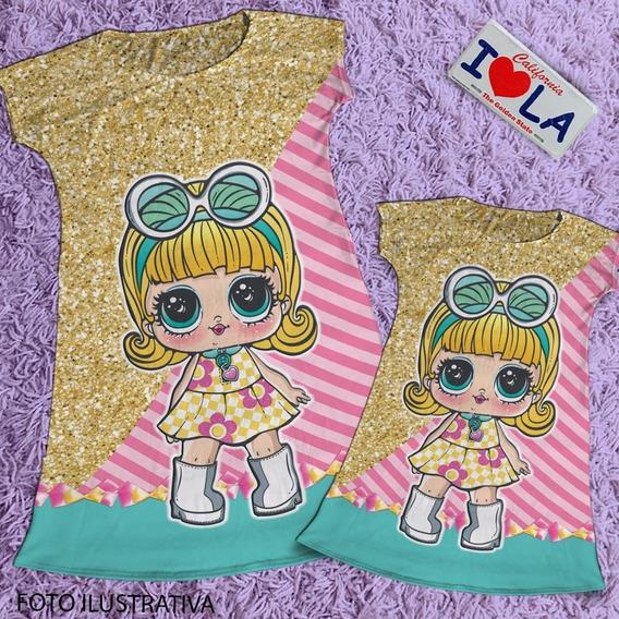 Vestido Mae E Filha Boneca Lol Hairgoals / Vestido Da Lol Go Go Gurl Cod11