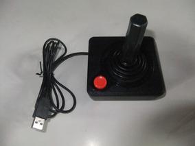 Controle Atari Usb + Emulador Com Todos Os Jogos