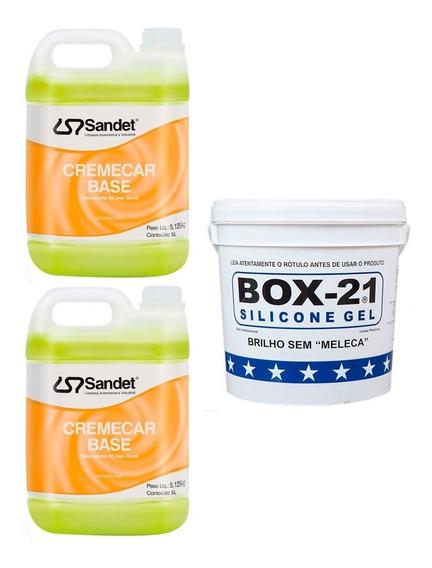 Shampoo Automotivo Cremecar Silicone Automotivo Box 21