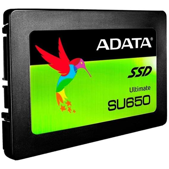 Ssd Adata Su650 120gb, Sata Leitura 520mb/s Gravação 450mb/s