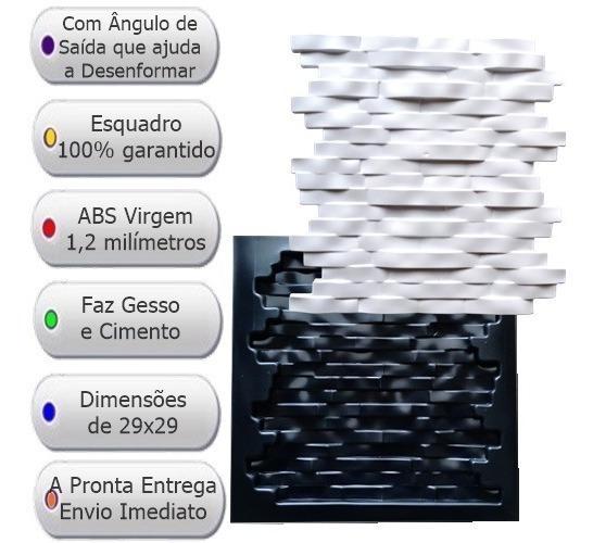 Forma Gesso 3d E Cimento Canjiquinha 29x29 Abs 1,2mm Fdg 63