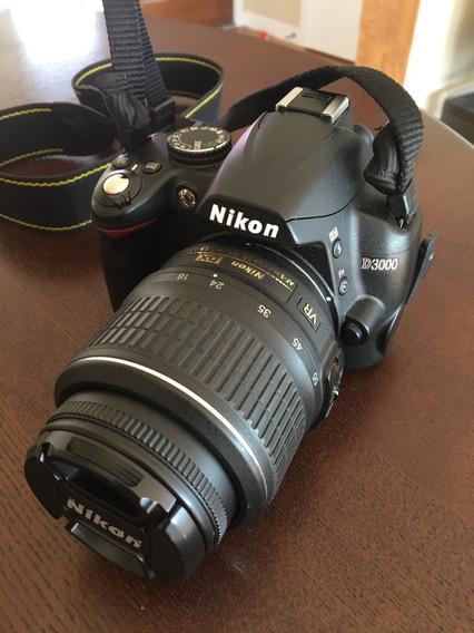 Camera Nikon D3000 + Lente 18 Mm + Case Completo