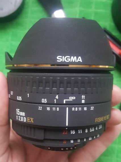 Lente Sigma 15mm F2.8 Fisheye Nikon