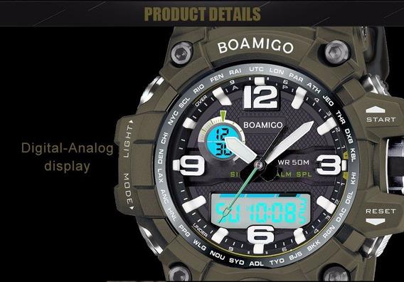 Relógio Masculino Anti Shock Esportivo Boamigo F5100 Militar