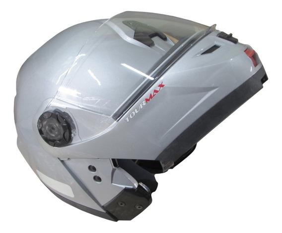 Capacete Escamoteavel Robocop Tour Maxx Prata Vallen