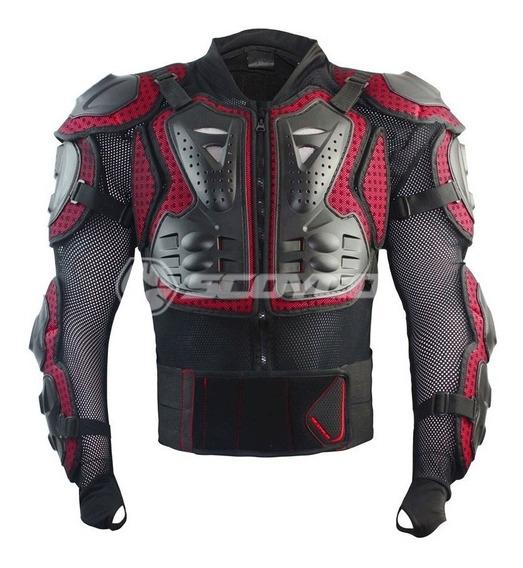 Pechera Integral Body Armor Moto Enduro Red Scoyco Talle M