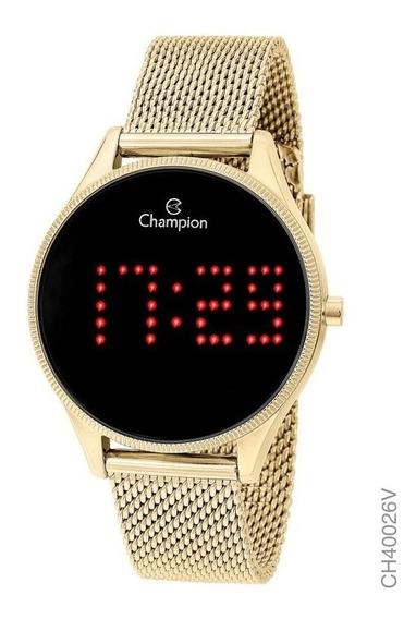 Relógio Digital Feminino Champion Dourado Ch40026v