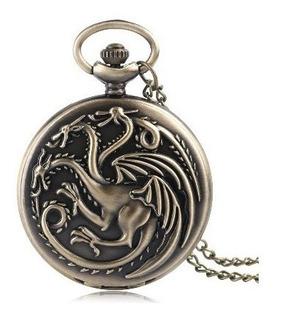 Reloj De Bolsillo Casa Targaryen Juego De Tronos