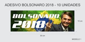 Adesivo Bolsonaro 2018 - 5 Unidades