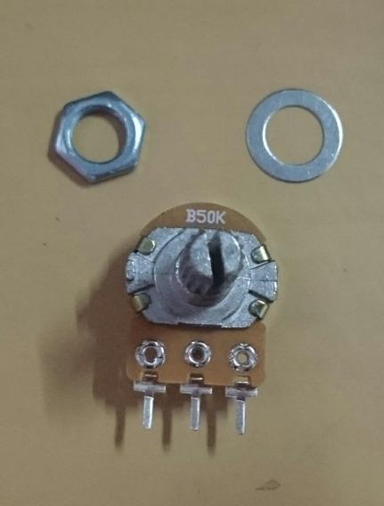 2 Potenciômetro B50k 50kb Linear L20/16mm