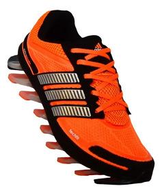 Tenis adidas Springblade 1ª Linha Preto E Laranja