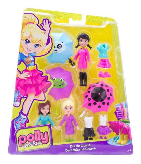 Polly Pocket Estações Da Polly Diversão Na Chuva - Mattel