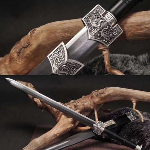 Imagem 1 de 4 de Espada Dinastia Han Jian Aço Carbono Dobrado Fênix Kung Fu