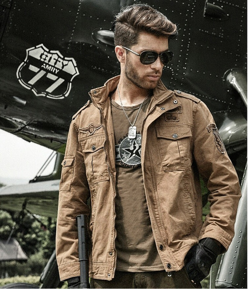Jaqueta Estilo Militar Masculina Airborne Aeronáutica