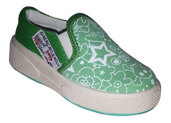 Zapatilla Pancha Star Toy Verde (talle 20 Al 26) Art 3310ve