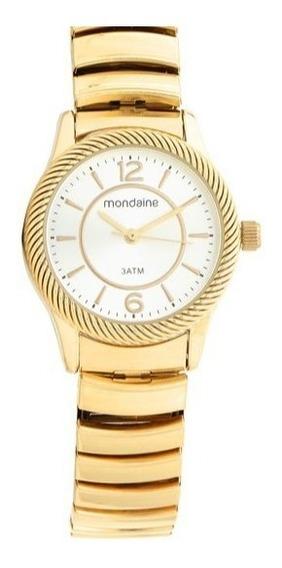 Relógio Pulso Mondaine Dourado Feminino