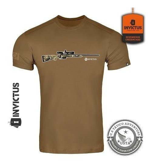 Camiseta T-shirt Concept Invictus Hunt Original Algodão