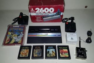 Atari 2600 Jr + 2 Joysticks + 5 Juegos (50vrds)