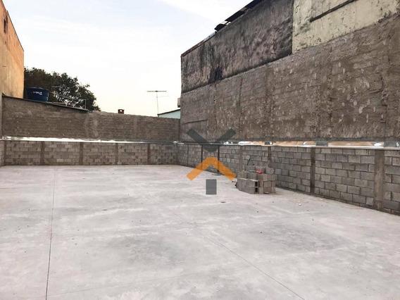 Terreno Para Alugar, 250 M² Por R$ 4.000/mês - Parque Erasmo Assunção - Santo André/sp - Te0018
