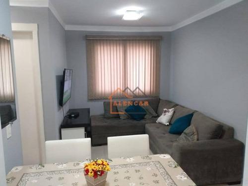 Imagem 1 de 30 de Apartamento, 47 M² - Venda Por R$ 215.000,00 Ou Aluguel Por R$ 1.500,00/mês - Vila Curuçá - São Paulo/sp - Ap0446