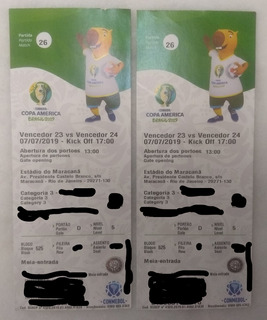 2 Ingressos Meia Entrada Categoria 3 Final Copa America