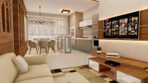 Apartamento Com 2 Dormitórios À Venda, 63 M² Por R$ 656.559,31 - Piratini - Gramado/rs - Ap1255