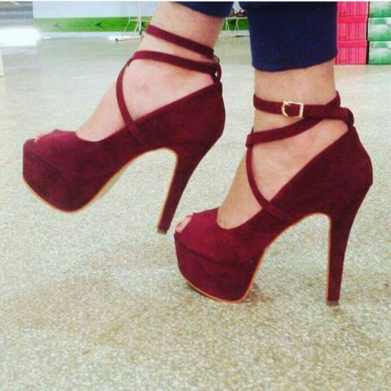 Sapatos Femininos Sandálias De Salto Peep Toe