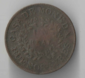 Argentina 1 Real Buenos Aires 1840 Data Unica Rara