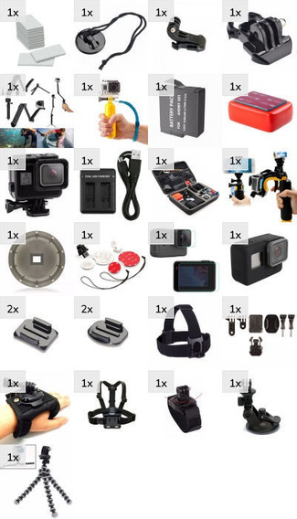 Kit Para Gopro Hero 5 6 7 Black Entrega Imediata Dome Case