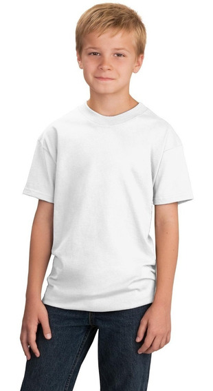 Playera Blanca Para Sublimar Adolescente Dry Fit