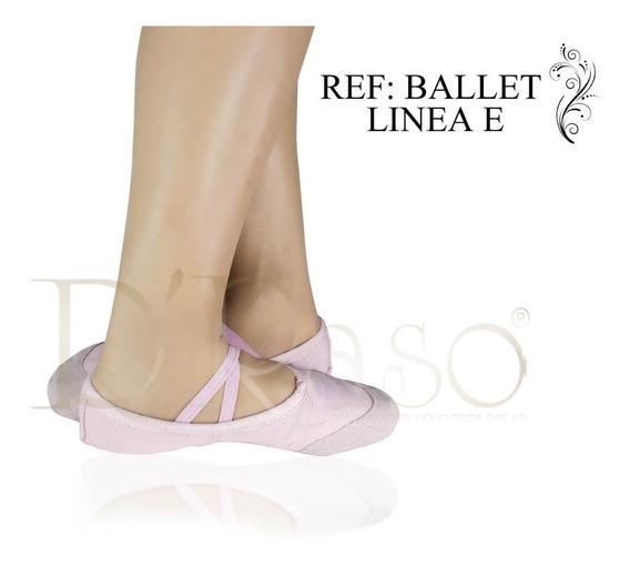 Zapatillas Suaves De Ballet Todas Las Tallas En Lona