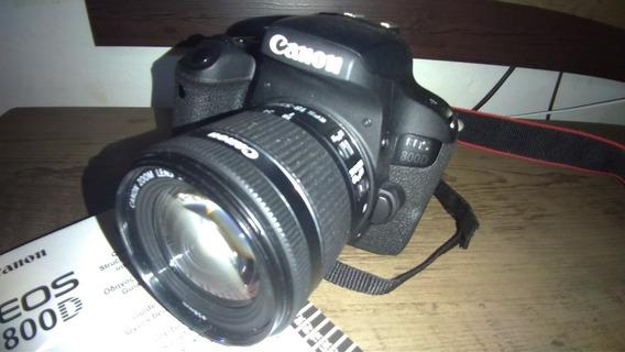 Canon 800d (t7i) + 18-55mm + Bateria & Carregador